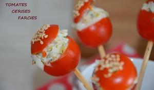 Tomate cerise farcie au surimi