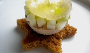 Boule de Noël au foie gras et gelée de Muscat de Rivesaltes