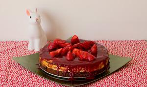 Cheesecake aux fraises allégé en sucre