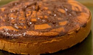 Gâteau au yaourt marbré chocolat-caramel