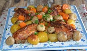 Cuisse de poulet farcie