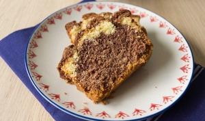 Cake marbré à la fleur d'oranger et chocolat