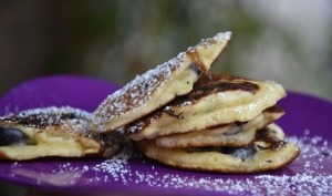 Pancakes aux grosses myrtilles