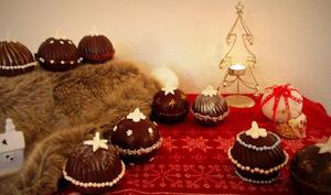 Boules de Noël chocolat framboise