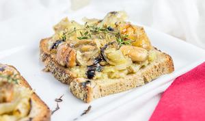 Bruschetta aux champignons