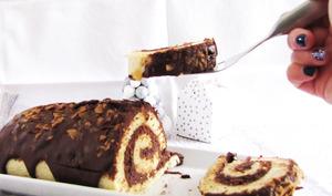 Bûche chocolat et praliné
