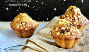 Madeleine muffins à la vanille et pépites de chocolat