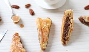 Galette des Rois pécan, vanille et pépites de caramel