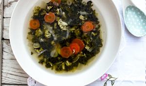 Bouillon détox aux légumes verts