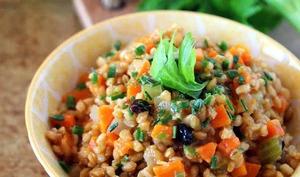 Petit épeautre à la brunoise de légumes en cocotte