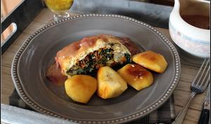 Veggie wellington et sa sauce au cidre et à l'oignon