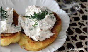Vodka Royale et ses blini à la mousse de crabe