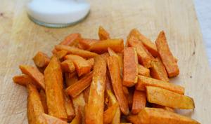 Frites de patate douce aux épices