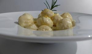 Gnocchetti di ricotta à la crème citron-romarin