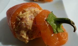 Mini-poivrons farcis à la faisselle et au jambon de Bayonne