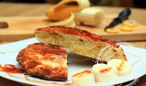 Galettes des rois à la crème amandes coco, banane et caramel