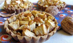 Tartelettes rustiques pommes, noix & sirop d'érable