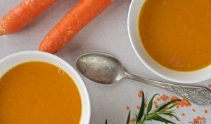 Une soupe potimarron et lentilles corail