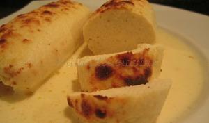 Boudin blanc de poulet à la crème de parmesan