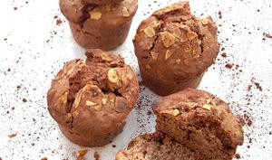 Muffins Choco, Amande et Noisette