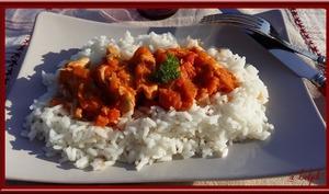 Poulet à la tomate et au Piment d'Espelette