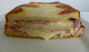 Croque-cake jambon fromage