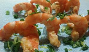 Crevettes aux cébettes