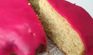 Gâteau pistache au glaçage pomme d'amour