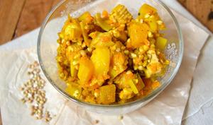 Curry de légumes d'hiver, tofu fumé et sarrasin