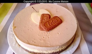 Cheesecake pomme speculoos