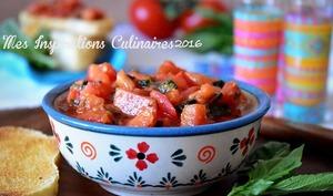 Bruschetta espagnole aux tomate