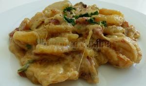 Tartiffade de pommes de terre au saint-nectaire et au cantal