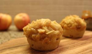 Muffins aux pommes et caramel au beurre salé
