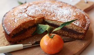 Gâteau aux clémentines et ganache au chocolat