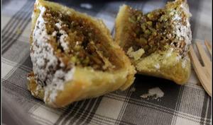 tartelettes à la confiture d'orange yuzu, frangipane pistache et vanille