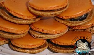 Macarons chocolat ananas