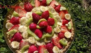 Tarte multi-fruits aux grains de pistaches