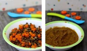 Lentilles, carotte et thym
