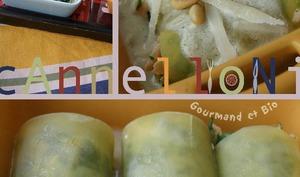 Cannelloni aux épinards et au saumon, sauce échalotes