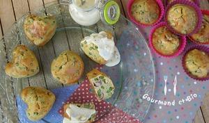 Muffins aux Petits Pois, crème de Parmesan...