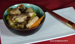 Sauté de poulet au sirop d'érable façon chinois du Québec