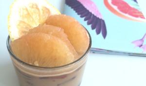 Crème aux praslines et aux pamplemousses de Floride