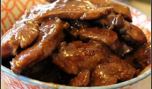 Magrets de canard caramélisés au gingembre et au miel