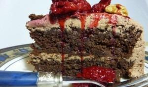 Gâteau moelleux au noix et chocolat noir