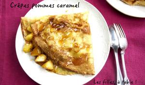 Crêpes aux pommes et au caramel au beurre salé