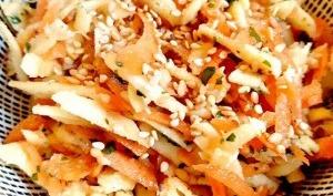 Salade de carottes et panais râpés au sésame