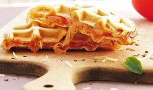 Gaufres façon pizzas