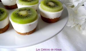 Mini cheesecakes citron et kiwi sans cuisson