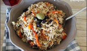 Riz Pilaf végétalien aux olives