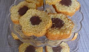 Cake vanille cœur fondant au chocolat